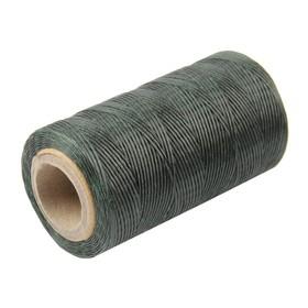 Нитки прошивочные, вощёные, 150D, толщина 0,55 мм, 200 м, тёмно-зелёные Ош