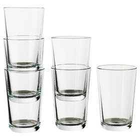 Набор стаканов ИКЕА 365, 6 шт, 300 мл, прозрачное стекло