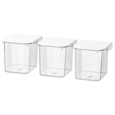 Набор контейнеров с крышкой СКОДИС, 3 шт, белый