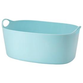 Гибкая корзина для белья ТОРКИС, 35 л, синий