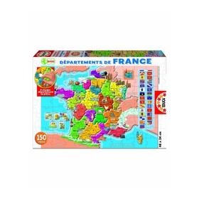 Пазл «Департаменты Франции», 150 деталей