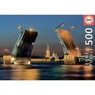 Пазл «Развод Дворцового моста в Санкт-Петербурге», 500 деталей