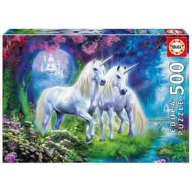Пазл «Единороги в лесу», 500 деталей