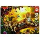 Пазл «Леопард и его детёныши», 500 деталей