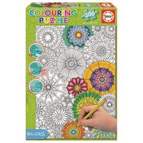 Пазл-раскраска «Цветы», 300 деталей