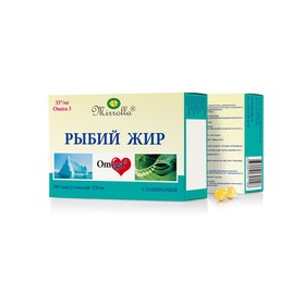 Капсулы «Мирролла» рыбий жир с ламинарией, 100 капсул по 0,37 г.