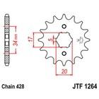 Звезда передняя, ведущая JTF1264, стальная