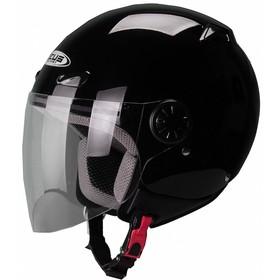 Шлем открытый ZS-210B черный глянец, L Ош