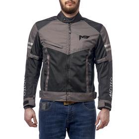 Куртка текстильная AIRFLOW, чёрный/серый, XL Ош