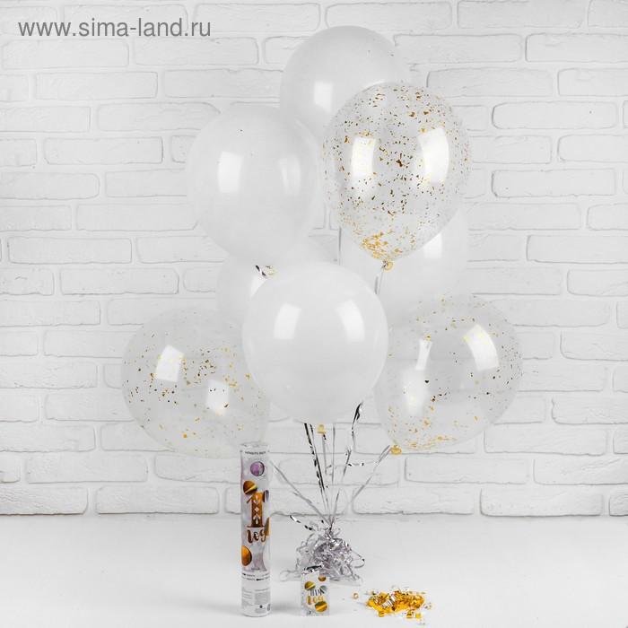 """Воздушные шары """"1 годик"""", хлопушка, открытка, лента, 13 предметов в наборе"""