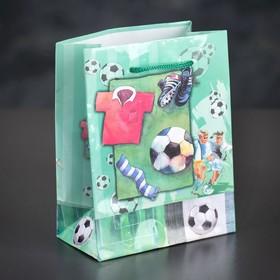 Пакет ламинированный 'Футболист', 12 х 15 х 5 см Ош