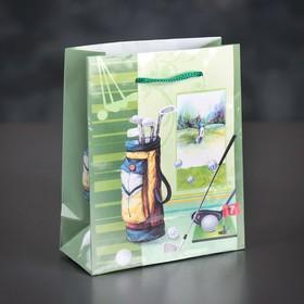 Пакет ламинированный 'Гольф', 12 х 15 х 5 см Ош