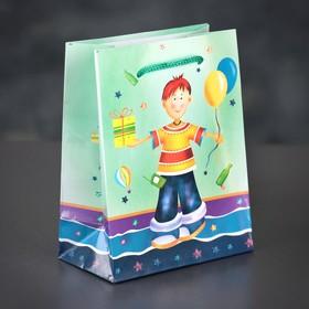 Пакет ламинированный 'День рождения', 12 х 15 х 5 см Ош
