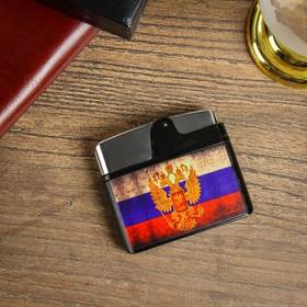 Зажигалка электронная 'Флаг России', USB, спираль, 5.5х1х5 см Ош