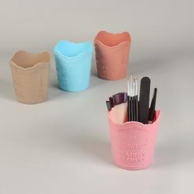 Органайзер для хранения маникюрных/косметических принадлежностей, 11,5 × 10 × 7,5 см цвет МИКС Ош