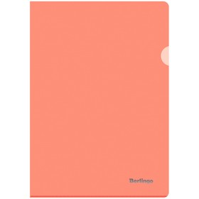Папка-уголок А4, 180мкм Berlingo Starlight, прозрачная оранжевая Ош