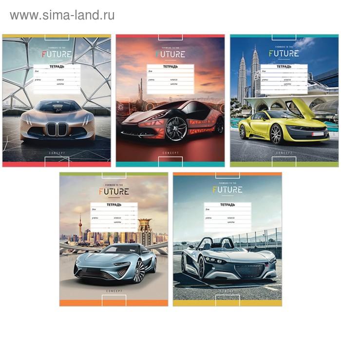 Тетрадь 18 листов линейка ArtSpace «Авто». Forward to the future