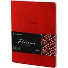 Тетрадь А5, 48 листов клетка «Лайт. Greenwich Line. Florence», искусственная кожа, тонированный блок, цветной срез, красный