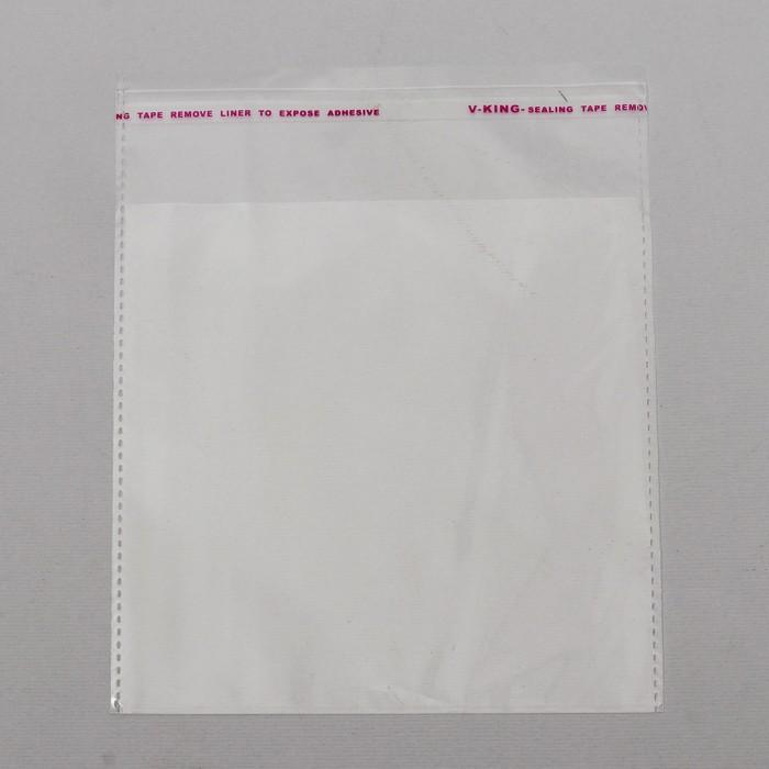 Пакет БОПП с клеевым клапаном 12 х 12/4 см, 25 мкм