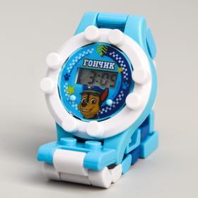 Щенячий патруль. Часы наручные лего 'Гончик', с ремешком-конструктором, PAW PATROL Ош