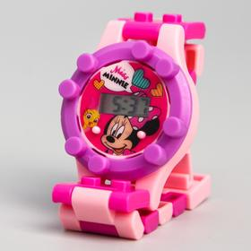 Часы наручные лего, Минни Маус, с ремешком-конструктором Ош