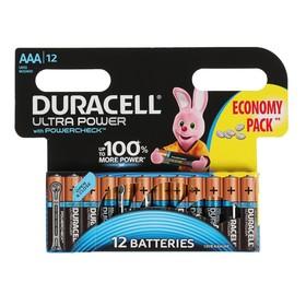 Батарейка алкалиновая Duracell Ultra Power, AAA, LR03-12BL, 1.5В, 12 шт.