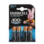 Батарейка алкалиновая Duracell Ultra Power, AA, LR6-4BL, 1.5В, 4 шт