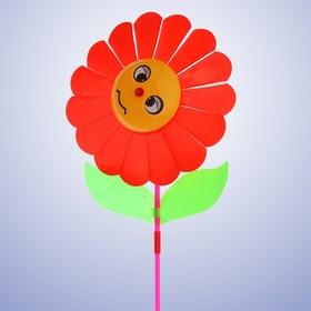 Ветерок «Цветок», цвет красный Ош