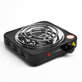 Плитка электрическая LuazON LHP-001, 1 конфорка, 1000 Вт, нагреватель спираль, черная