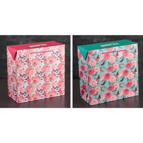 Пакет-коробка с клапаном 'Весеннее настроение', ламинированный, 27 х 13 х 27 см, МИКС Ош