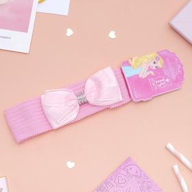 Повязка для волос 'Плюша' 3,5 см d- 29 см бант с лентой, розовый Ош