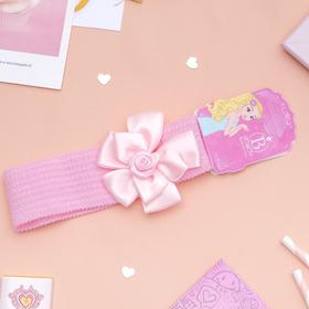 Повязка для волос 'Плюша' 3,5 см d- 29 см цветок атлас, розовый Ош