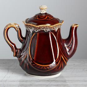 """Чайник для заварки """"Ажур"""" коричневый, 0.6 л"""