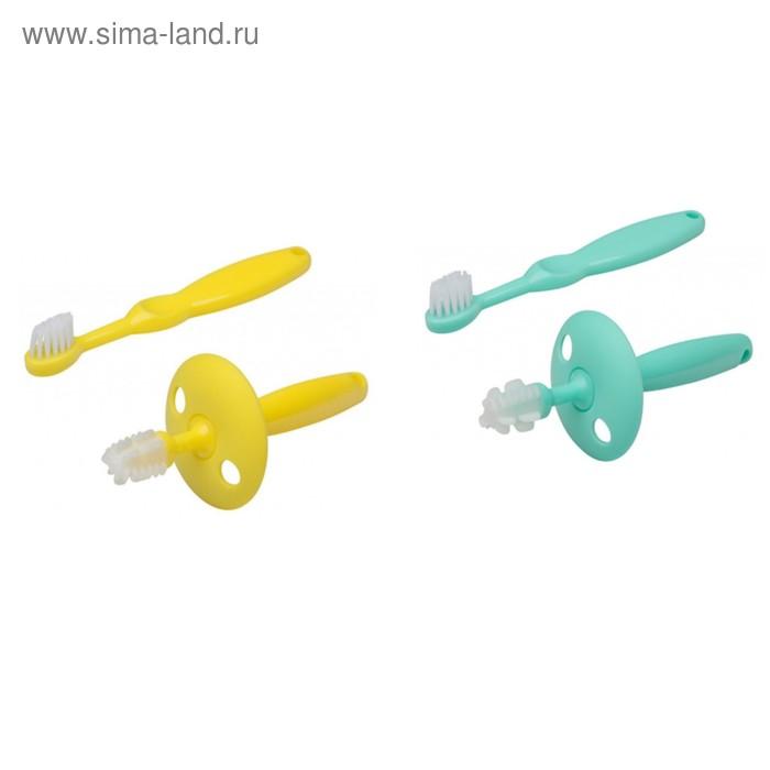 Набор: Зубная щетка и  щетка-массажер, от 0 мес. ROXY-KIDS
