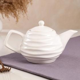 "Чайник для заварки ""Волна"", белый, 0.8 л"