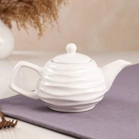 "Чайник для заварки ""Волна"", белый, 0.5 л"