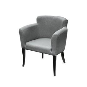 Кресло «Неаполь», ткань китон, опоры венге, цвет серый
