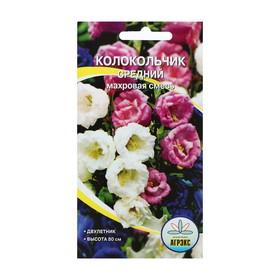 Семена цветов Колокольчик средний махровый смесь окрасок, Дв, 0,1 г Ош