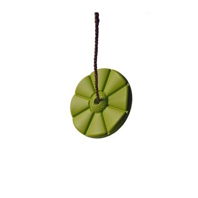 Качели диск «Лиана», цвет салатовый - Фото 1