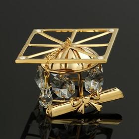Сувенир «Шапка магистра», 5×5×3,5 см, с кристаллами Сваровски Ош