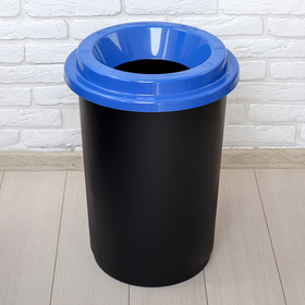 Контейнер для мусора с крышкой «Эко», 50 л, цвет синий Ош