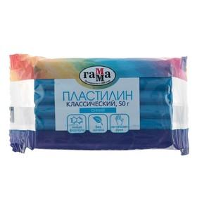 Пластилин 50 г, «Гамма» «Классический», синий Ош