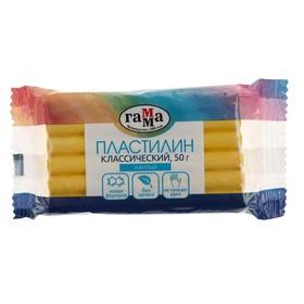 Пластилин 50 г, «Гамма» «Классический», жёлтый Ош