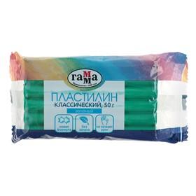 Пластилин 50 г, «Гамма» «Классический», зелёный Ош