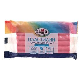 Пластилин 50 г, «Гамма» «Классический», розовый