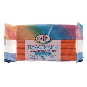 Пластилин 50 г, «Гамма» «Классический», оранжевый Ош