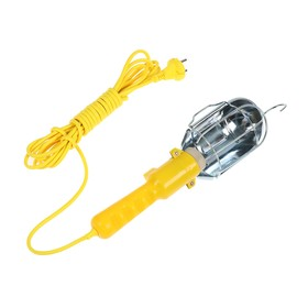 Светильник переносной TUNDRA с выключателем под лампу E27, 5 метров, желтый Ош
