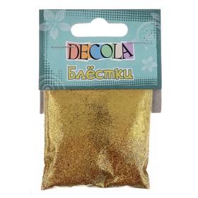 Декор блёстки ЗХК Decola 0.1 мм, 20 г, золото майя Ош