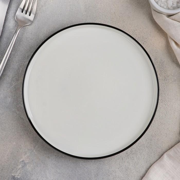 Блюдо для подачи «Фронтьер», 20×1,5 см, цвет белый