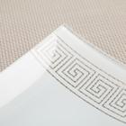 Блюдо «Версаче», 19×9 см, цвет белый - Фото 3